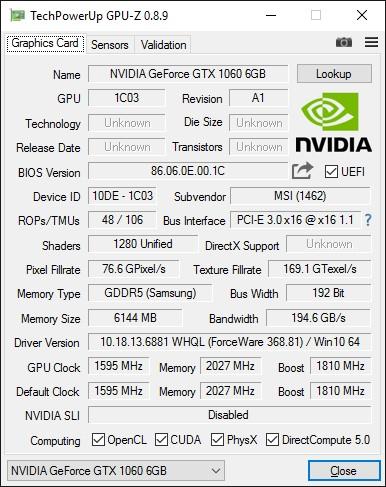 MSI_GeForce_GTX1060_GAMING_X_6G_GPU-Z_info