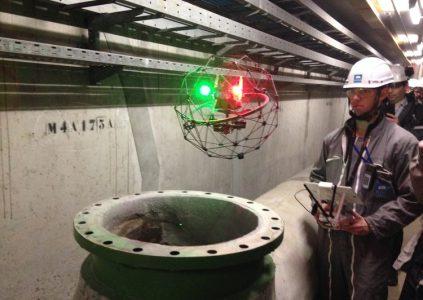 DJI и Flyability совместно улучшат промышленный дрон Elios, оборудованный системой избегания препятствий