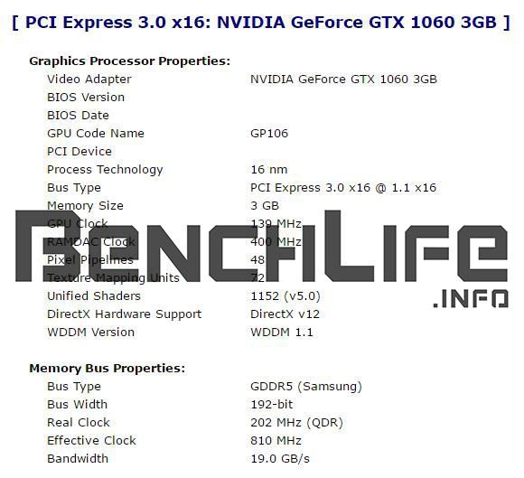 Видеокарта NVIDIA GeForce GTX 1060 с 3 ГБ памяти получит урезанный GPU