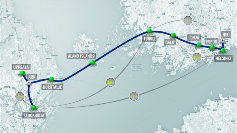 Из Стокгольма в Хельсинки на Hyperloop можно будет доехать менее чем за полчаса