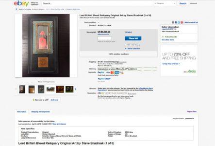 В поддержку своего проекта разработчики игр выставили образцы собственной крови на eBay