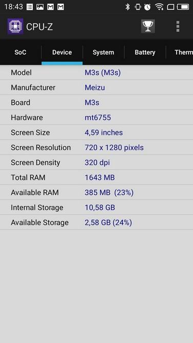 Обзор Meizu M3s