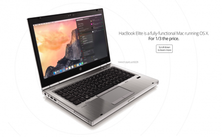 HacBook Elite — ноутбук с macOS за треть стоимости MacBook