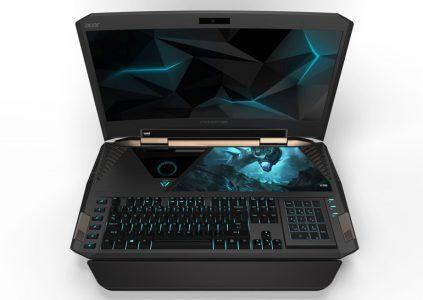 Acer показала игровой ноутбук с изогнутым дисплеем и модель с толщиной корпуса 9,9 мм