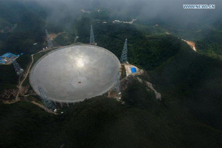 В КНР запустили мощнейший телескоп, из-за которого переселили 9 тыс. человек