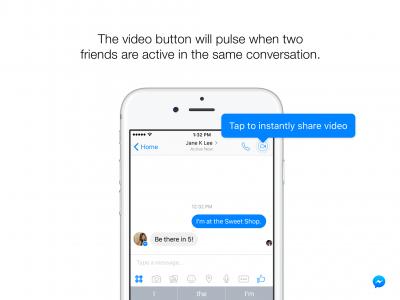 В Facebook Messenger появились мгновенные видеосообщения
