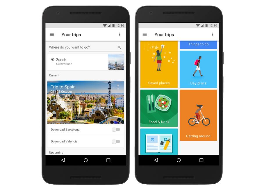 Google выпустила приложение Trips для планирования путешествий