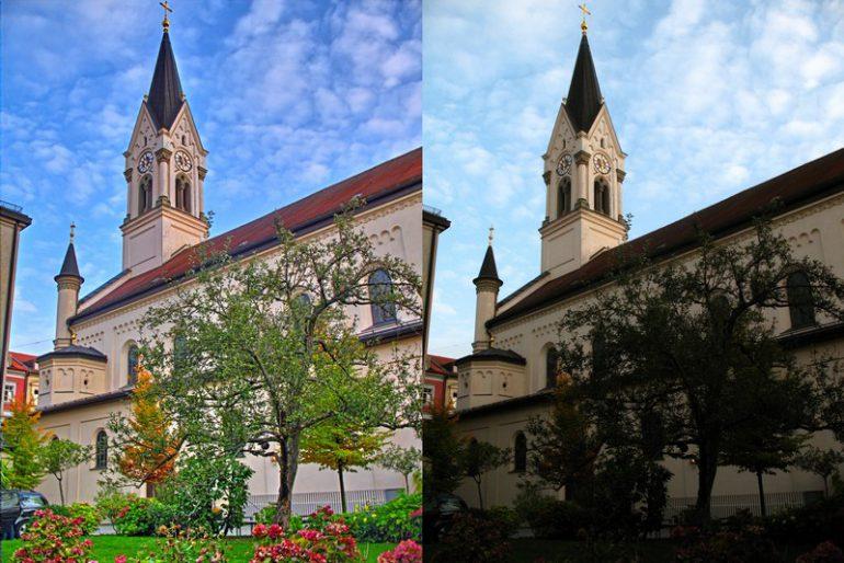 München,_St._Benedikt_vom_Pfarrhof_(HDR_vs_NORMAL)