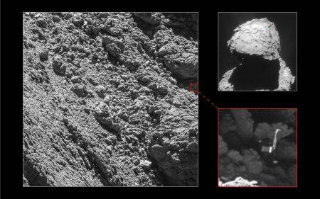 Потерянный зонд «Филы» на поверхности кометы Чурюмова-Герасименко [фото]