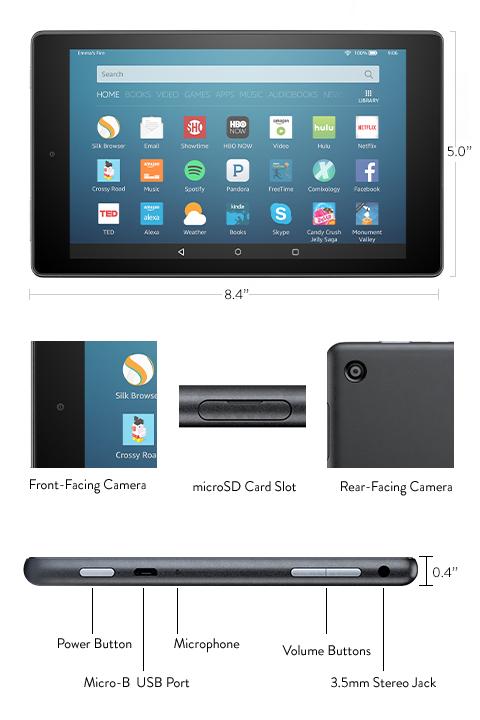 Новый планшет Amazon Fire HD 8 получил увеличенный объём ОЗУ, в 2 раза больше флеш-памяти и увеличенное время автономной работы