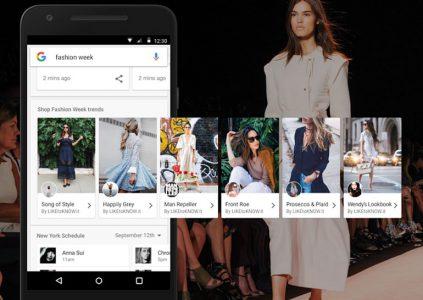 Google предлагает покупать одежду прямо из поисковой выдачи