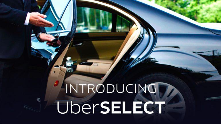 Uber запустил в Киеве новый сервис UberSELECT с автомобилями комфорт-класса, водителями с лучшими рейтингами и более высоким тарифом