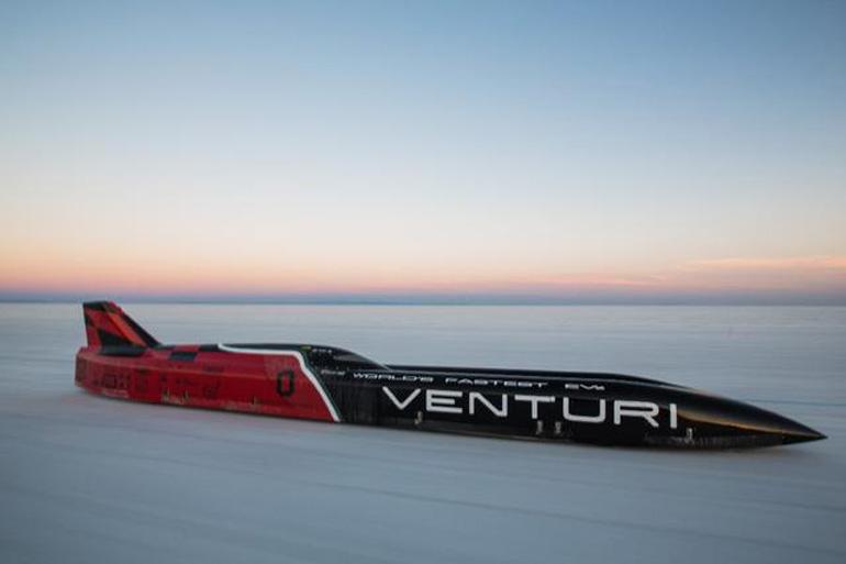 Вентури установила новый рекорд скорости электромобиля