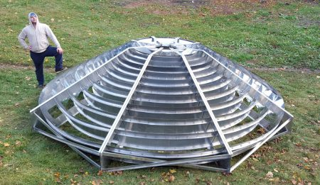 Харьковская команда Hooli разработала компактную солнечную CSP-электростанцию с концентратором на основе зеркала Френеля