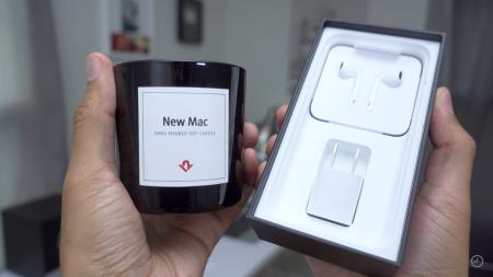 «Так чем же она пахнет?»: Видеообзор ароматической свечи New Mac Candle с запахом только что распакованного компьютера Apple
