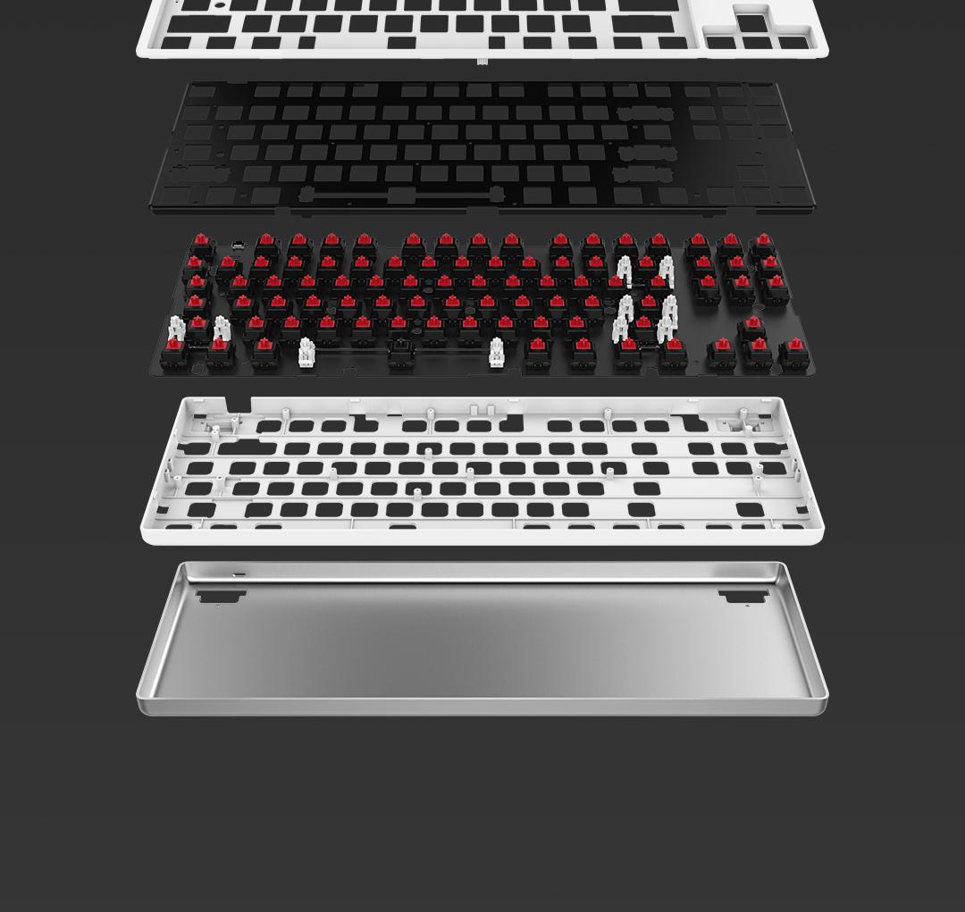 Механическая клавиатура Xiaomi с 87 клавишами алюминиевым корпусом и настраиваемой подсветкой оценена в $45