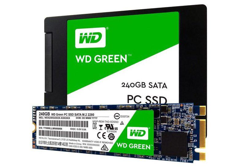 Western Digital представила твердотельные накопителиWD Blue иWD Green