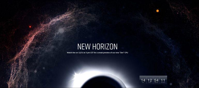 13 декабря состоится онлайн-трансляция пресс-конференции AMD New Horizon, посвященной анонсу новых процессоров Zen