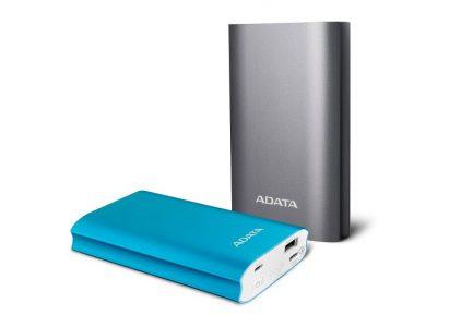 ADATA представила внешний аккумулятор A10050QC с ускоренной зарядкой Qualcomm Quick Charge 3.0 и двумя портами USB-C и USB-A