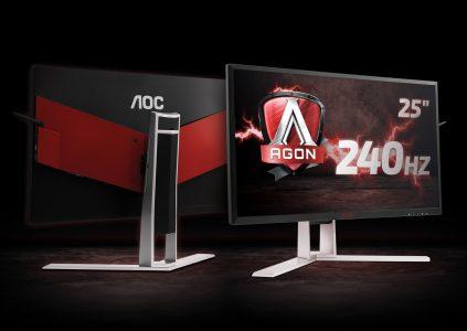 Игровой монитор AOC AGON AG251FZ с 25-дюймовой TN-матрицей и частотой обновления 240 Гц появится в Украине в январе по цене 14399 грн
