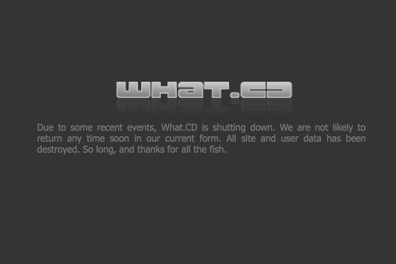 Музыкальный торрент-трекер What.cd закончил работу
