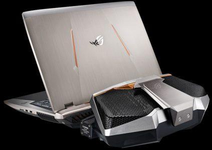 Игровой ноутбук ASUS ROG GX800 оснащается двумя видеокартами NVIDIA GeForce GTX 1080 и внешней системой жидкостного охлаждения
