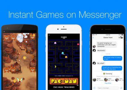 В Facebook Messenger появились мгновенные игры