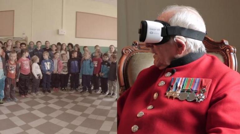 Виртуальная действительность позволила ветерану побывать восвобожденном имгороде