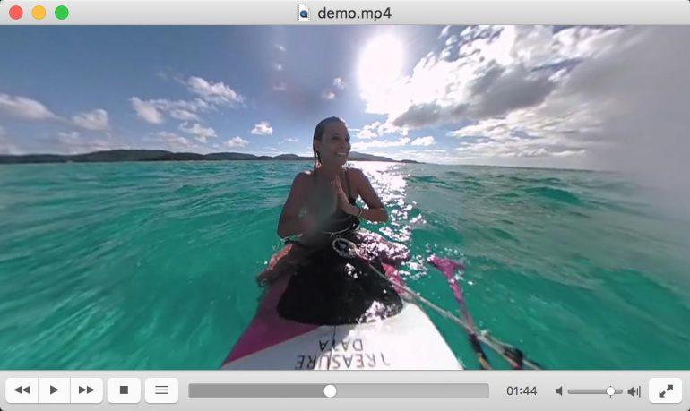 В VLC 3.0 появилась поддержка 360-градусного видео