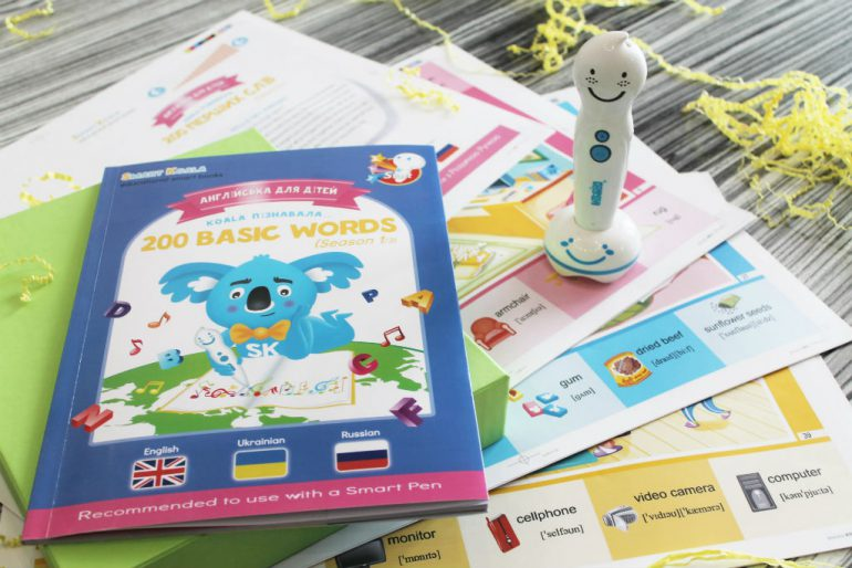 Украинские разработчики создали интерактивную книгу Smart Koala с умной ручкой, которая поможет детям изучить английский язык