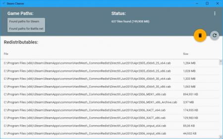 Steam Cleaner освобождает место, удаляя ненужные файлы инсталляций в Steam, Origin, GOG