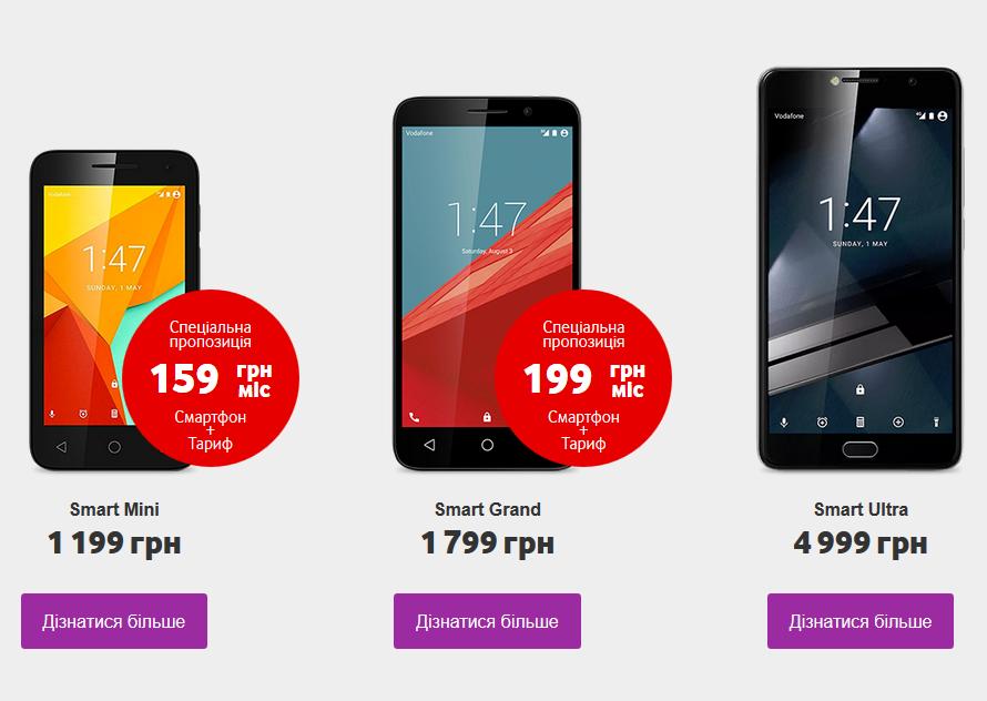 «Vodafone Украина» будет торговать мобильные телефоны под собственным брендом