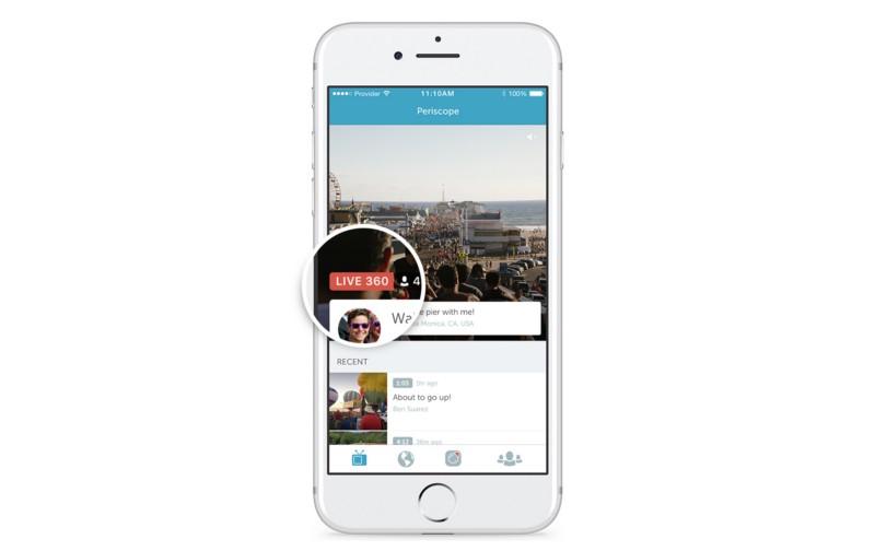 В социальная сеть Twitter появились 360-градусные видеотрансляции