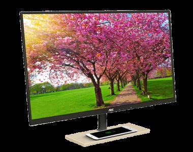 AOC выпустила 27-дюймовый 1080p монитор с беспроводной зарядкой Qi в подставке