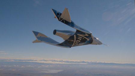 Космический корабль SpaceShipTwo (VSS Unity) совершил второй испытательный полет в режиме планирования