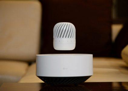 LG анонсировала портативный левитирующий динамик, способный работать до 10 часов без подзарядки