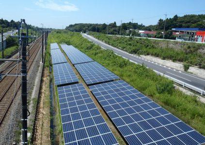 """В Японии начали строить одну из самых """"узких"""" в мире солнечных электростанций длиной 10 км"""