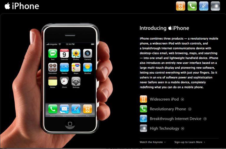 Первый iPhone был представлен ровно 10 лет назад