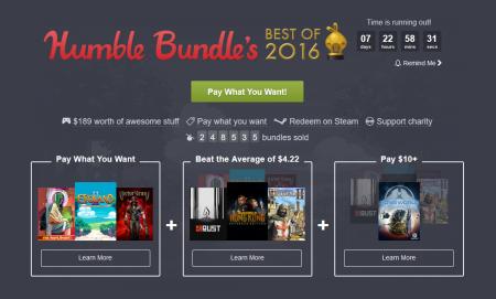 Humble Bundle выпустил подборку Best of 2016 с лучшими играми предыдущего года