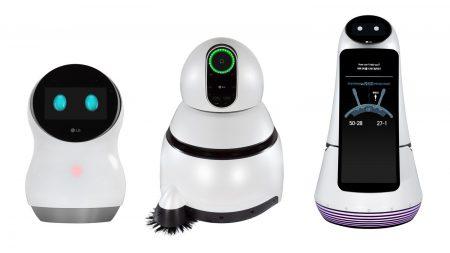 LG продемонстрировала на CES 2017 линейку роботов, включая домашнюю модель Hub Robot, ассистента Guide Robot и уборщика Cleaning Robot