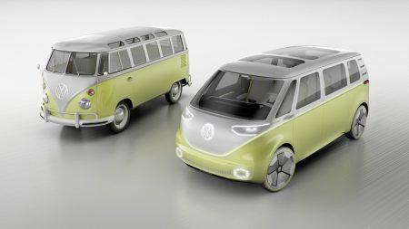 Volkswagen представил концепт электрического полноприводного минивэна I.D. Buzz с трансформируемым салоном и запасом хода 600 км