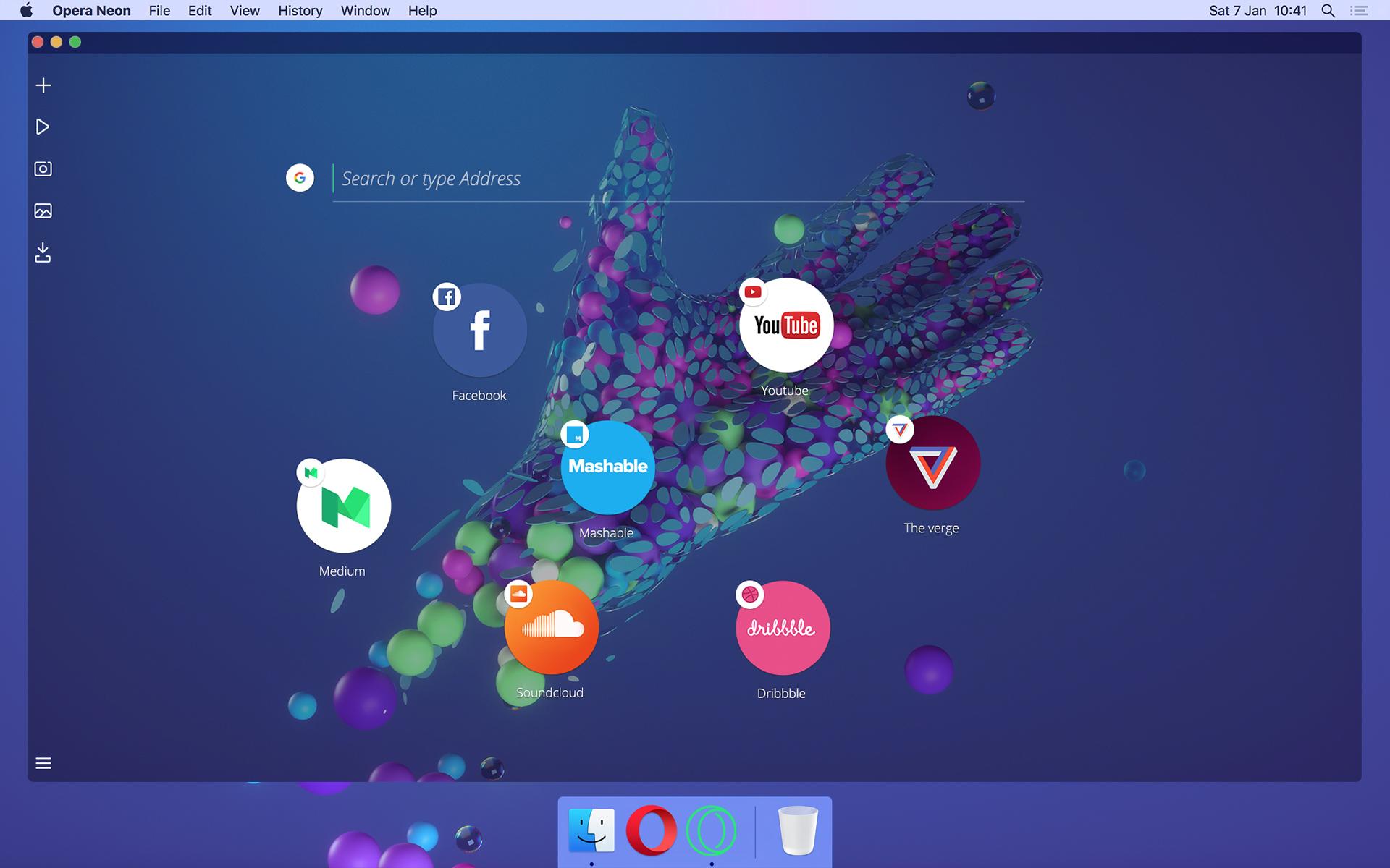 Проект будущего: Opera показала навидео новый браузер Neon