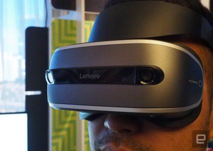 Шлем виртуальной реальности Lenovo предложит повышенную комфортность при цене $400