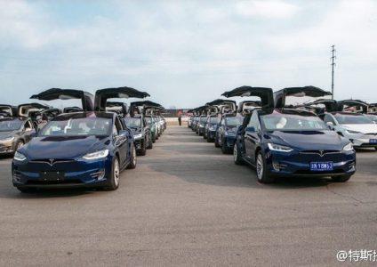 В Китае был установлен рекорд Гиннеса – крупнейший в мире парад электромобилей Tesla