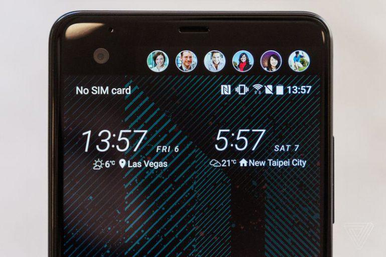 Смартфон HTC U Ultra: корпус из стекла и металла, дополнительный диспл