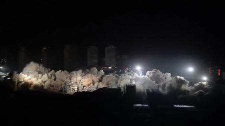Снести за 10 секунд: В Китае одновременно взорвали 19 жилых домов [видео]