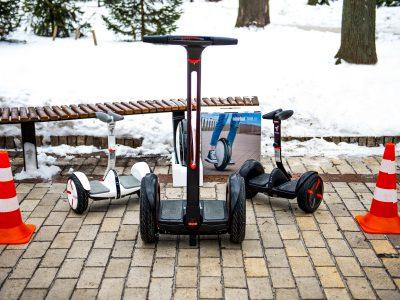 Зимний тест-драйв гироскутеров Ninebot miniPRO, E+ и моноколеса One S2