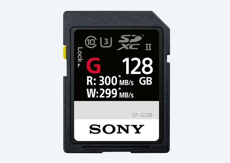 Сони анонсировала карту памятиSD срекордной скоростью записи 299 МБ/с