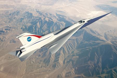 NASA приступило к тестированию модели пассажирского сверхзвукового самолета QueSST