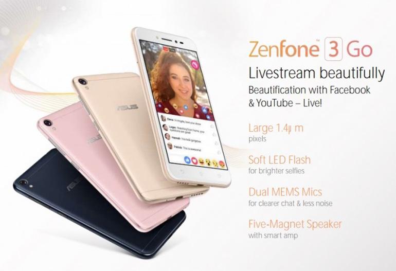 Смартфон ASUS Zenfone 3 Go на100% рассекречен